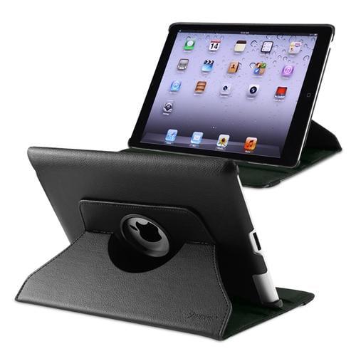 Insten 360-degree Swivel Leather Case For Apple iPad 2 / 3 / 4, Black