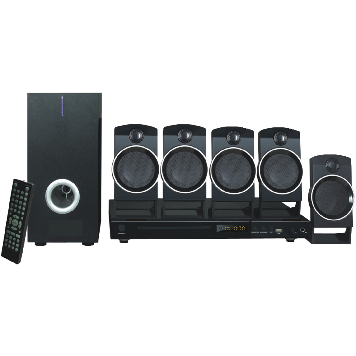Naxa ND-859 5.1-Channel DVD & Karaoke Entertainment System