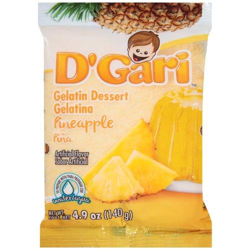 D'Gari Pineapple Gelatin Dessert, 5 oz