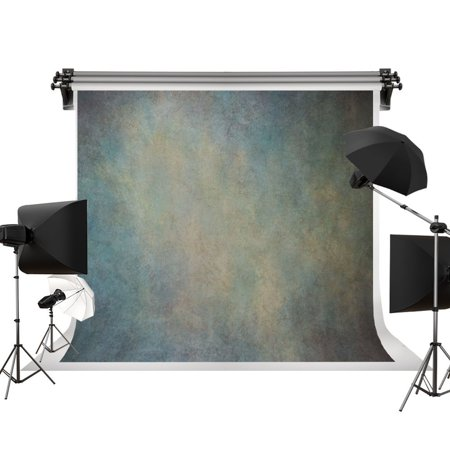 HelloDecor Polyster 7x5ft Hand Painted Old Master Gray Green Background Portrait Photography Abstract Texture Backdrop Photography Studio Props for Photographer Kids Children Adults