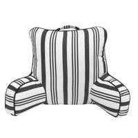 Envogue Yarn Dyed Stripe Backrest Pillow, Black & White