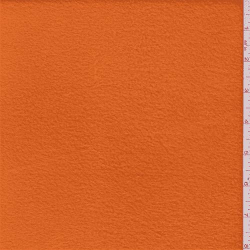 Orange Polyester Fleece, Fabric By the Yard
