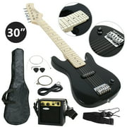 "Zeny 30"" Kids Child Black Electric Guitar + 5 Watt Amp + Gig Bag Case + Guitar Strap Beginners"
