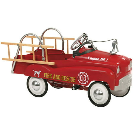 InStep Fire Truck Pedal Car, Red