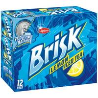 Lipton Brisk Iced Tea w/Lemon 12-12 fl. oz. Box