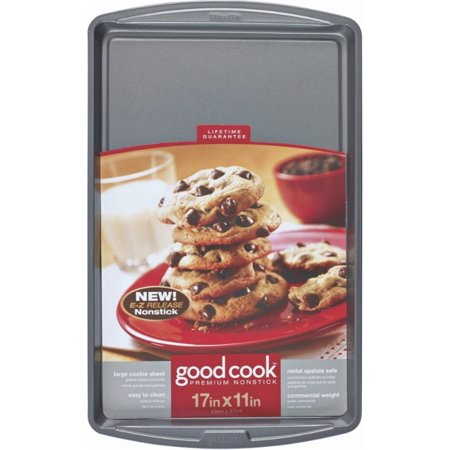 "2 Pack - Good Cook Nonstick Cookie Sheet, Large 17"" x 11"" 1 ea"