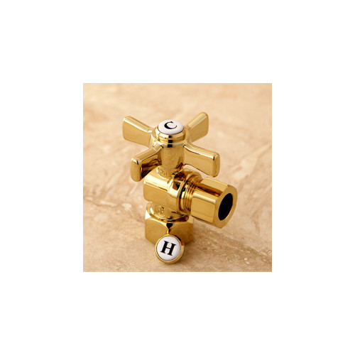Modern Compression Angle Valve in Polished Brass Finish