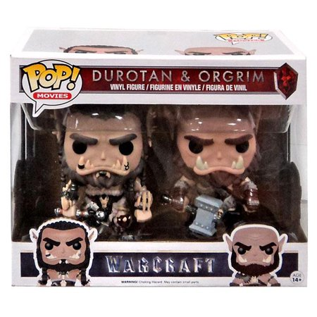 Warcraft Funko POP! Movies Durotan & Orgrim Vinyl Figure 2-Pack (Warcraft Collectible)