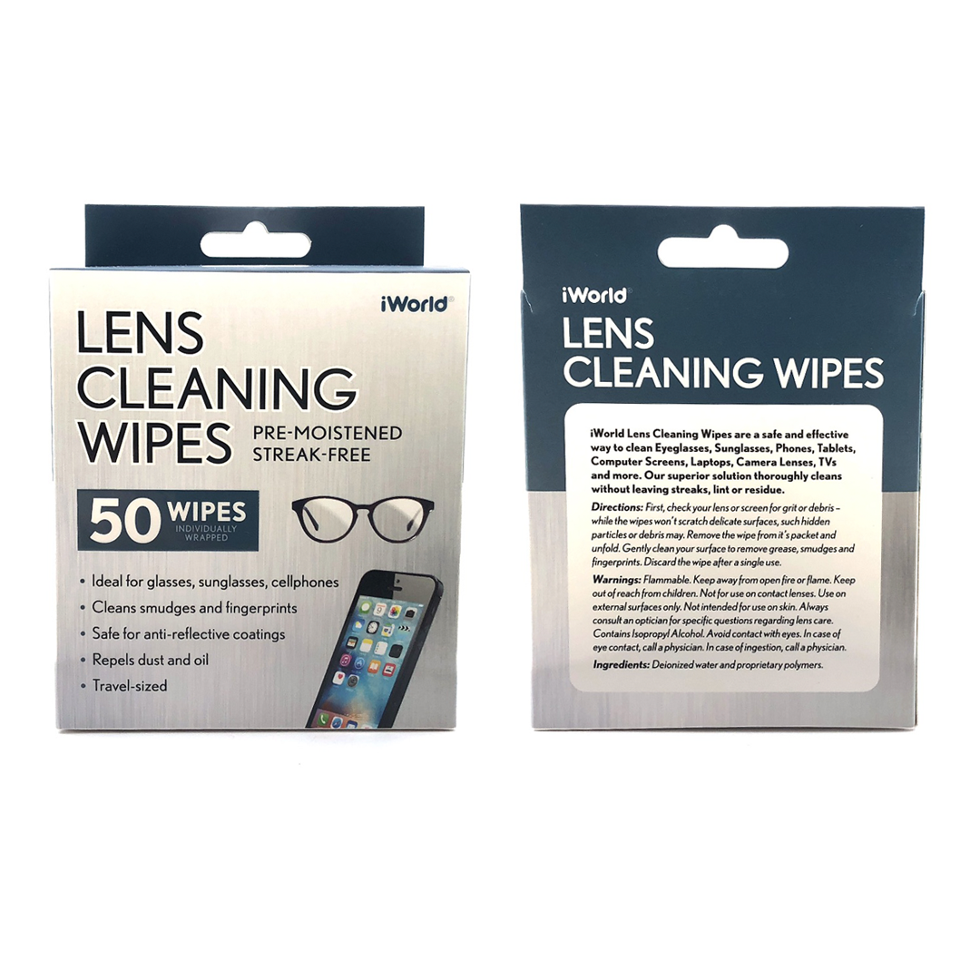 50ct Lens Wipes