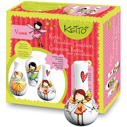 Ketto Paint-It-Yourself Vases, Fairy Theme