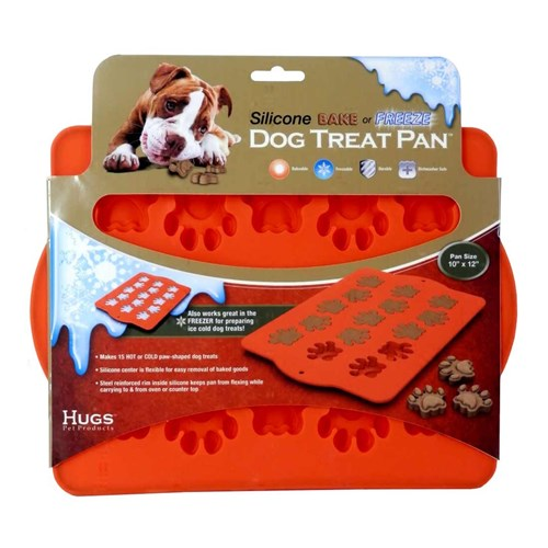 "Hugs Pet Products Silicone Baking Tray, Dog Bone, Orange, 12"" x 10"""