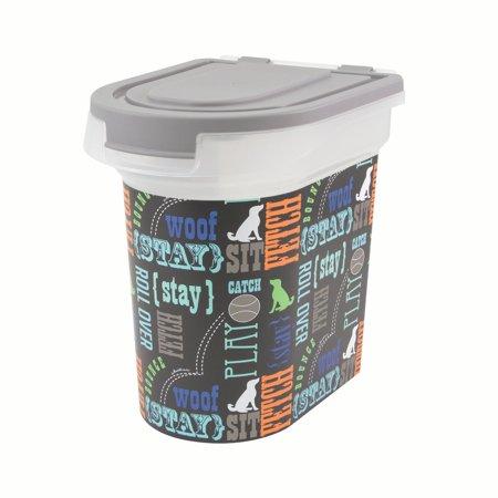 Paw Prints Word Play Design Pet Food Storage Bin - S