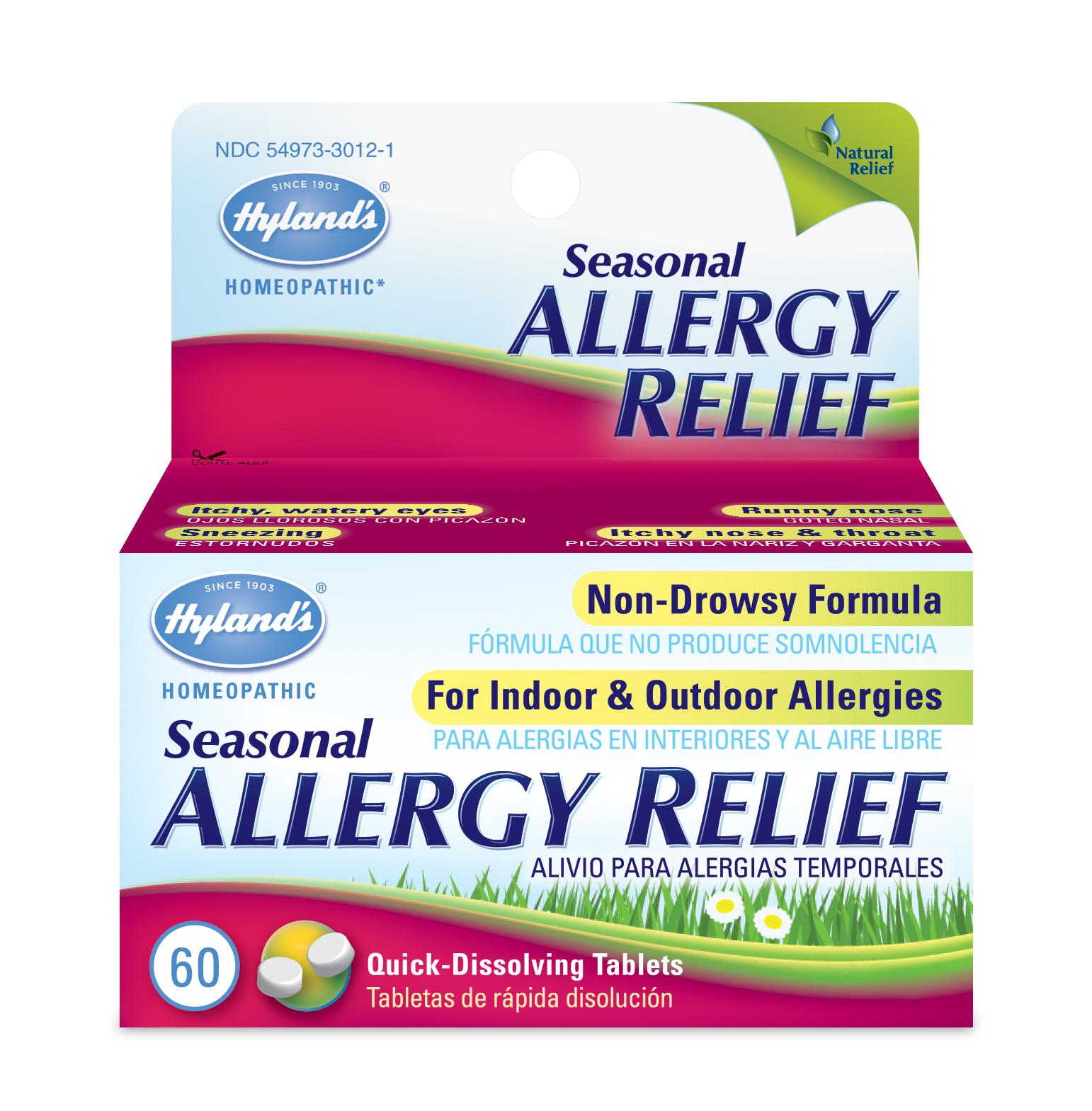 Seasonal Allergy Relief, 60 Quick-Dissolving Tablets - Walmart.com -  Walmart.com