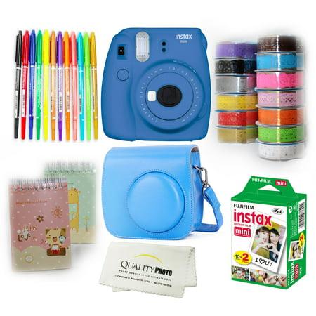 Fujifilm Instax Mini 9 camera bundle. Mini 9 Instant Camera,Case,Films(20)10 Colored Pens,2 Mini Photo Albums,13 Rolls Decorative Ribbons,Quality Photo Ulta Soft Microfiber Cloth