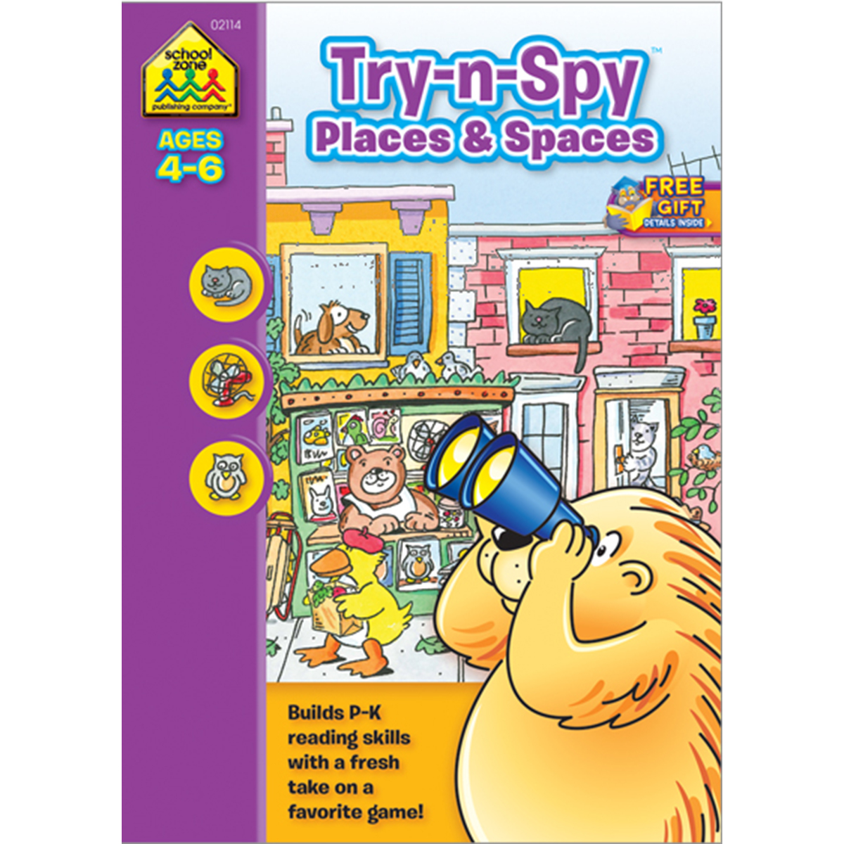 Preschool Workbooks, 32 Pages, Try 'n Spy Places And Spaces