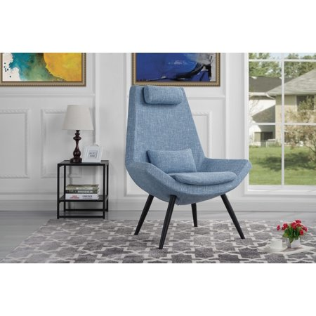 Contemporary Modern Linen Fabric Accent Chair, Armchair, Dark Gray ()