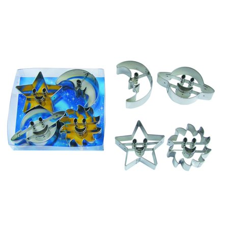 Astro - Saturn, Moon, Star, and Sun Cookie Cutter Set - 1803 - National Cake Supply ()