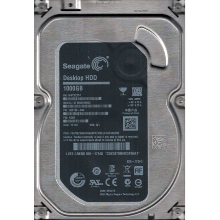 ST1000DM003 P/N: 1ER162-044 F/W: AQ03 WU W4Y MAC 655-1724G Seagate 1TB