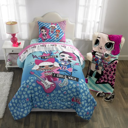 L.O.L. Surprise! Kids Bedding, Bed in a Bag Set, Blue or Pink ()