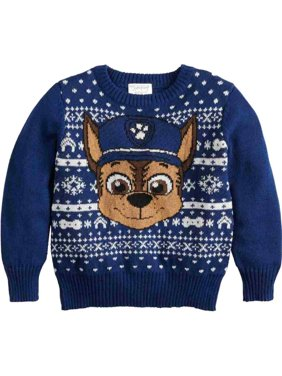 Paw Patrol Toddler Boys Chase Christmas Holiday Knit Sweater