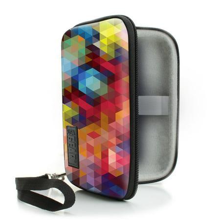 l Electronics Slim Case by USA Gear - Geometric (Electronic Gear)