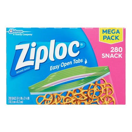 Ziploc Snack Bags, 280 Count - Mini Ziplock Bags