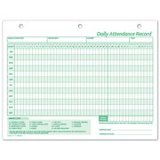 """Employee Attendance Records Forms, 11 X 8 1/2"""""""