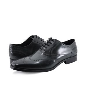 Kenneth Cole Men's Locked Down Leather Wingtip Oxfords
