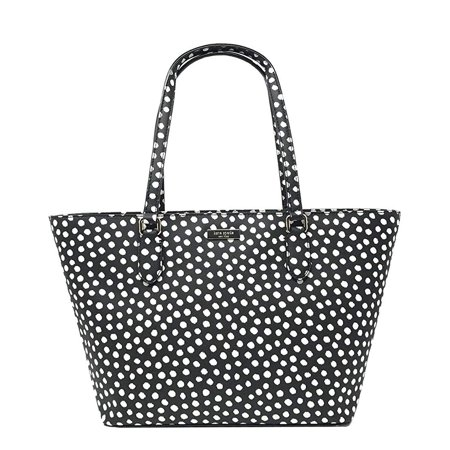 Kate Spade New York Small Dally Laurel Way Tote Bag in Black and White ()