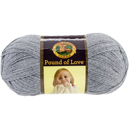 Lion Brand Pound of Love Worsted-Weight Yarn: Acrylic, Oxford Gray