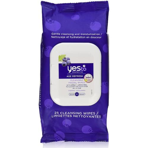 Yes to Blueberries Age Refresh Cleansing Facial Towelettes 25 ea (Pack of 2)