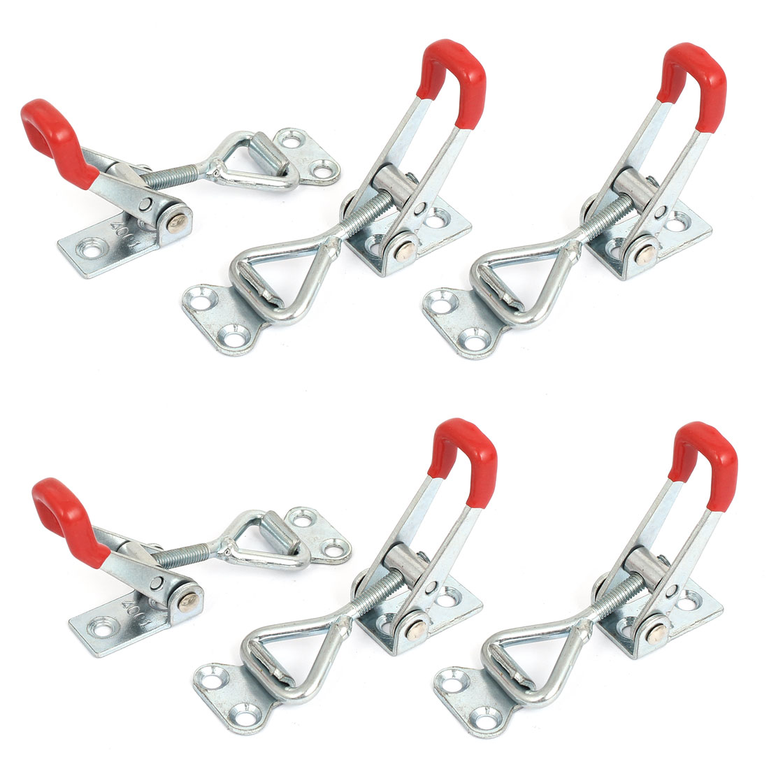 6pcs 4001 100Kg 220 Lbs Holding Capacity Metal Latch Door Button Toggle Clamps