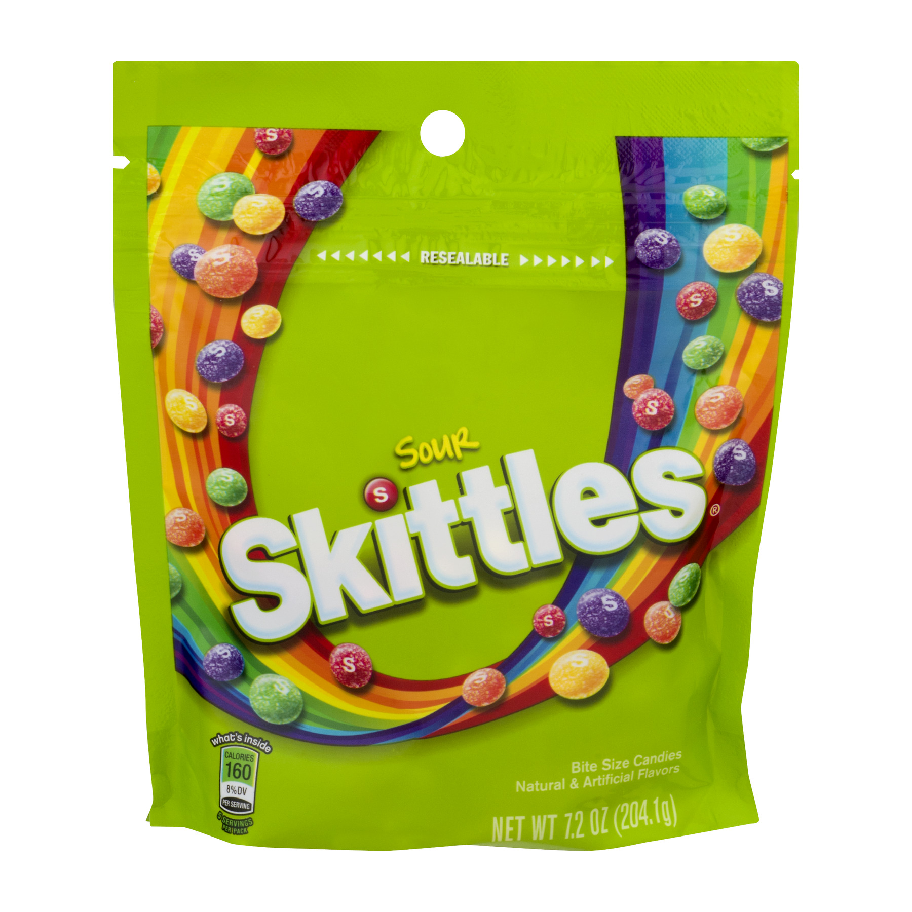 (4 Pack) Skittles, Sour Chewy Candy, 7.2 Oz