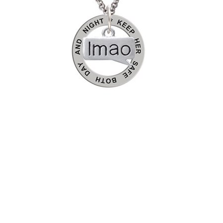 Text Chat   Lmao   Laughing My A   Off   Keep Her Safe Both Day And Night Affirmation Ring Necklace