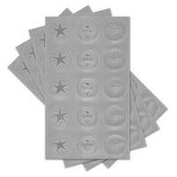 Gartner Studios 77738 Assorted Silver Certificate Seals 60ct