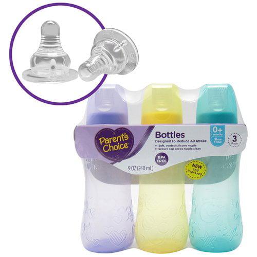 Parent's Choice BPA Free Tinted Bottles, 9 oz, 3 count