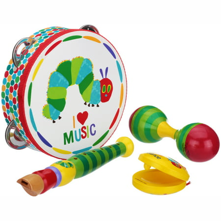The World of Eric Carle The Very Hungry Caterpillar Instrument Gift Set 4 pc Box (Eric Carle Toys)