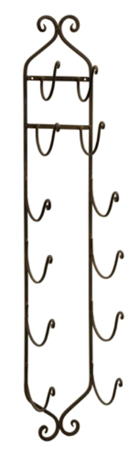 "41"" Ornate Wall Mounted Wrought Iron Towel and Wine Rack by CC Home Furnishings"