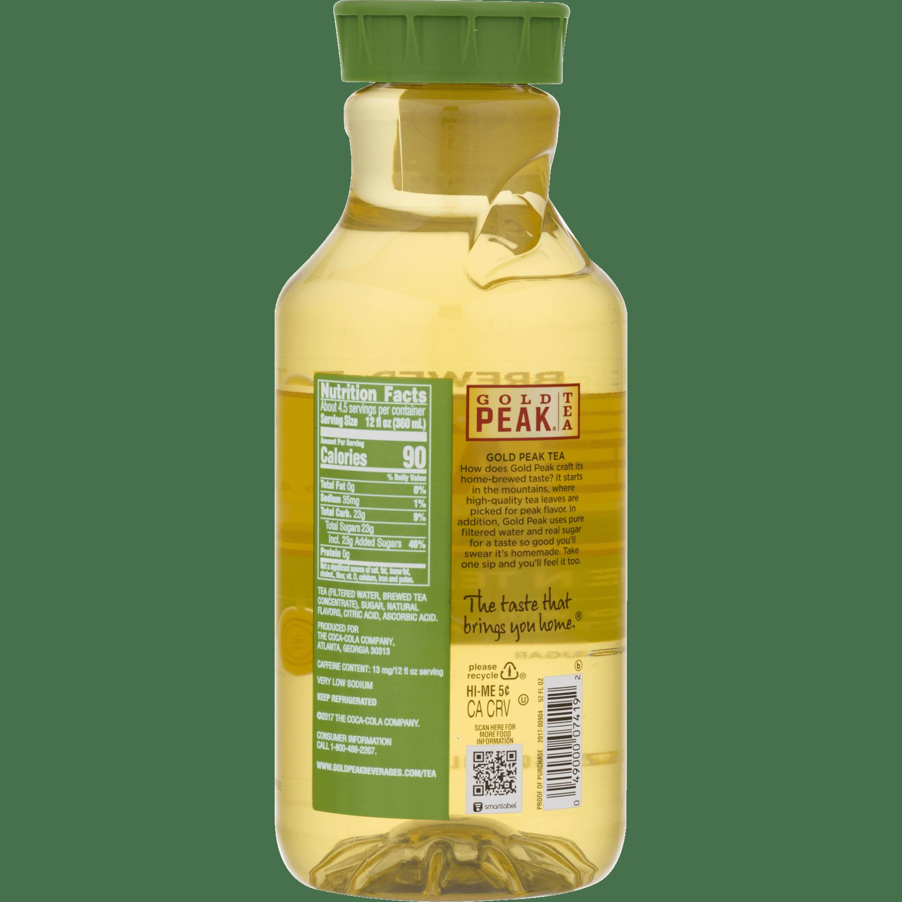 Gold Peak, Sweetened Green Tea, 52 Fl