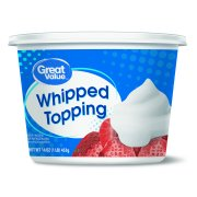 Great Value Whipped Topping,Creamy Texture, 16 Ounces