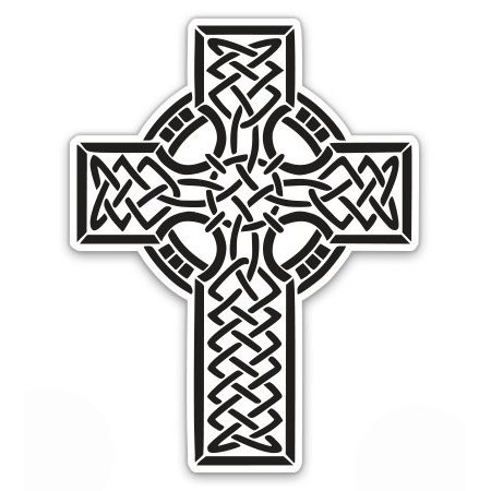 Black and White Celtic Cross - Vinyl Sticker Waterproof Decal Sticker 5