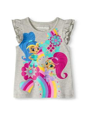ee42f94d1c5 Product Image Shimmer And Shine Toddler Girl Flutter Sleeve T-Shirt