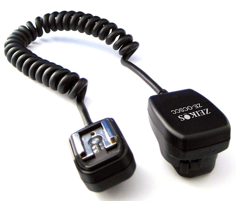 Zeikos ZE-OCSCC Off Camera Shoe Cord for Canon Flash, Off Camera Flash for Canon By Agfa,USA by Agfa