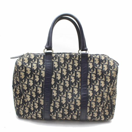 1beaadfd0 Dior - PRE-OWNED Navy Signature Monogram Oblique Trotter Boston ...