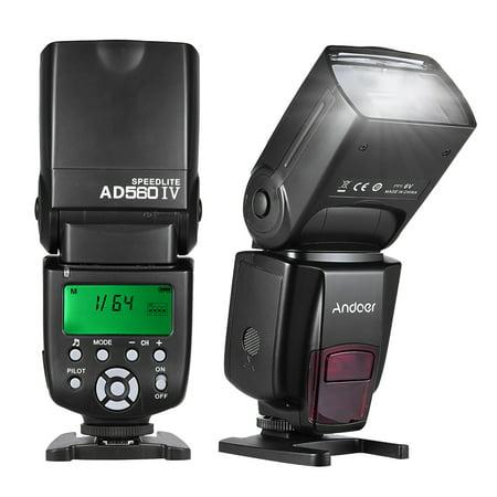 Andoer AD560 IV 2.4G Flash sans fil universel pour caméra Speedlite flash GN50 Ecran LCD pour Canon Nikon Olympus Pentax pour caméras DSLR Sony A7 / A7 II / A7S / A7R / A7S II - image 1 of 7