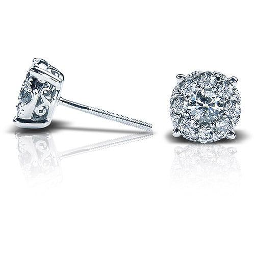 1/2 Carat T.W. Round Diamond 10kt White Gold Stud Earrings