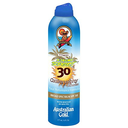 Australian Gold X-Treme Sport Continuous Spray Sunscreen, SPF 30 6 Oz