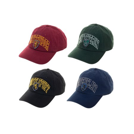 Harry Potter 4-Pack Hogwarts House Collegiate Style Snapback Caps