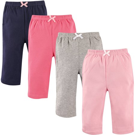 Baby Girl Pants, 4-Pack ()
