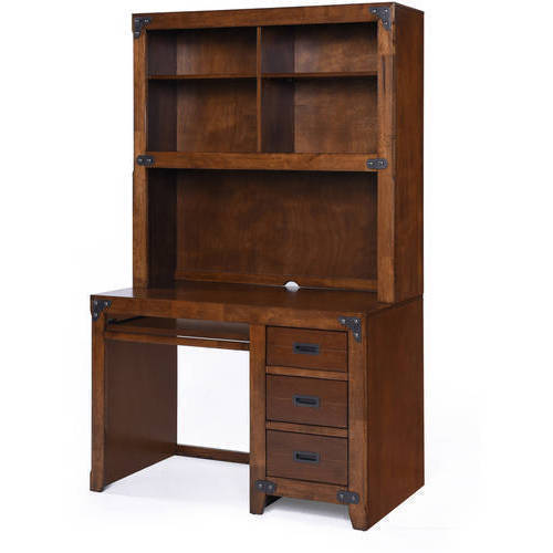 Better Homes and Gardens Kids Union Station Desk with Hutch, Rustic Cherry